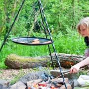 Tripod cooking