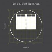 4m Bell Tent Floor Plan 2