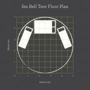 5m Bell Tent Floor Plan 2