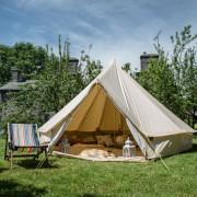 5m tent in garden