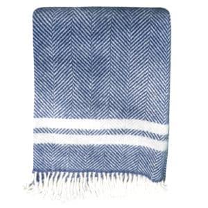 Denim fishbone blanket