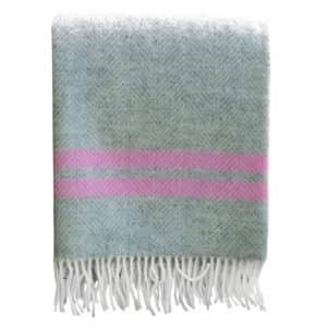 Grey fishbone blanket