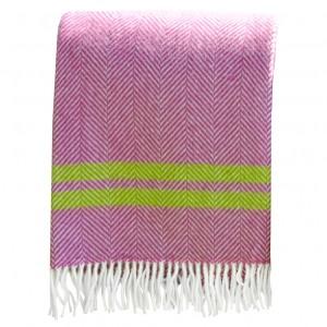 Pink fishbone stripe