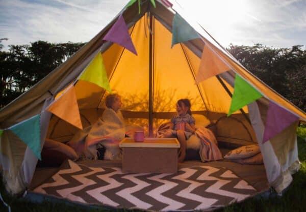 Kids in 3m tent