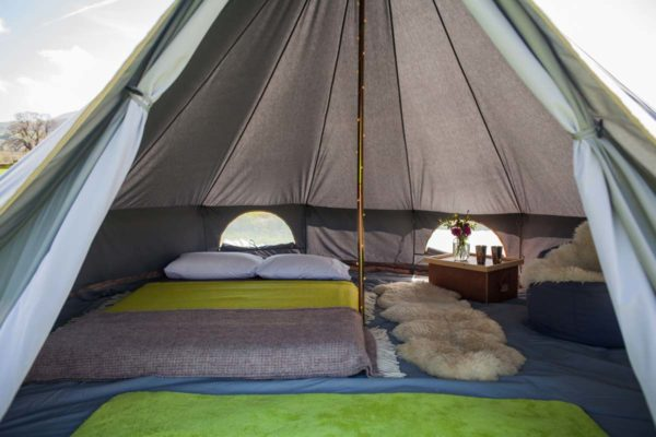 4m bell tent grey
