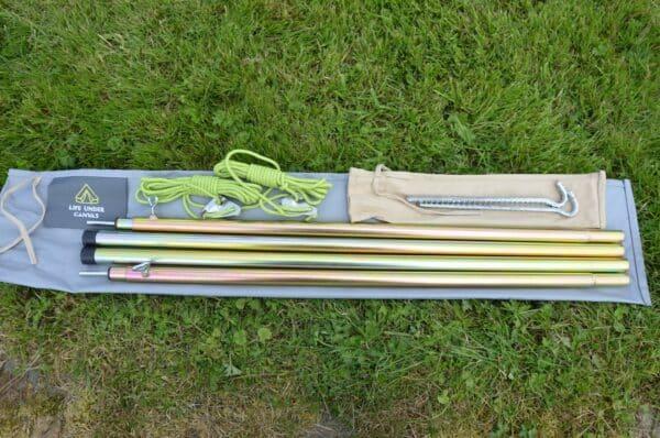 Double extendable pole set
