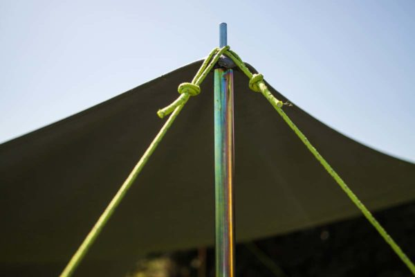 guy position for freestanding awning