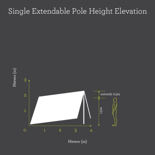 single pole height elevation