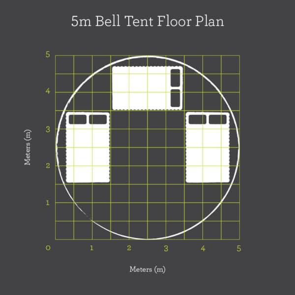 5m bell tent floor plan