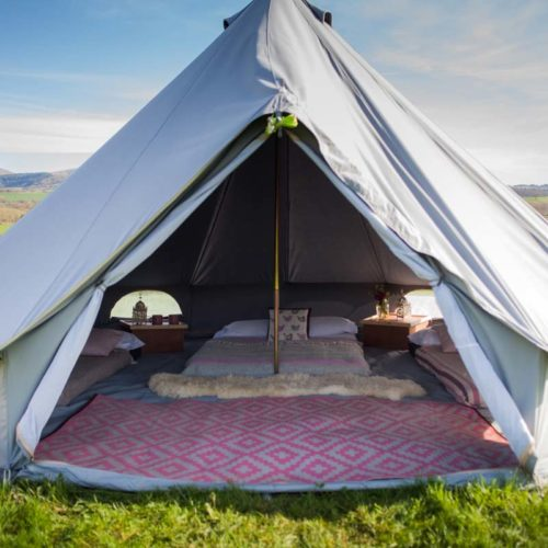 5m bell tent grey