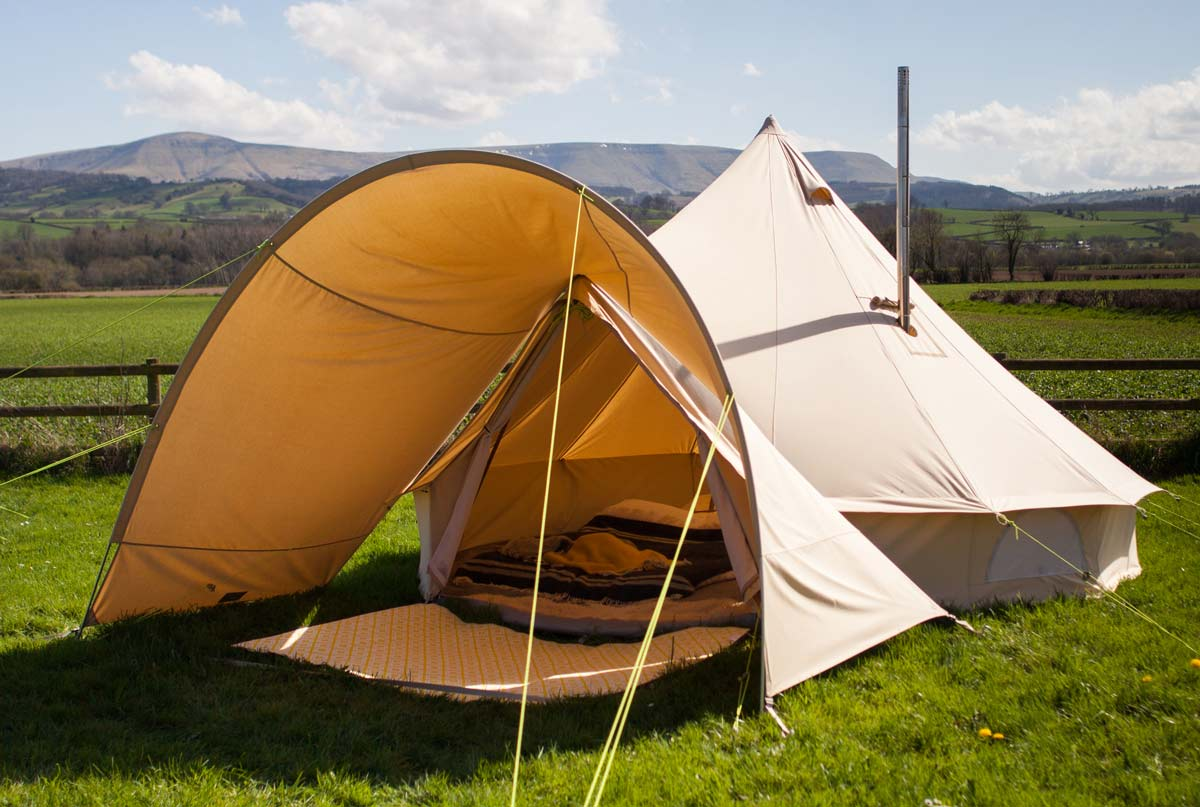 Bell Tent Porch for use with 3m 4m 5m 6m Bell Tent Bell ...