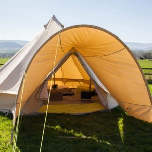 bell tent porch