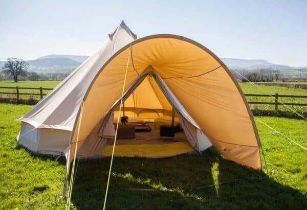 bell tent porch