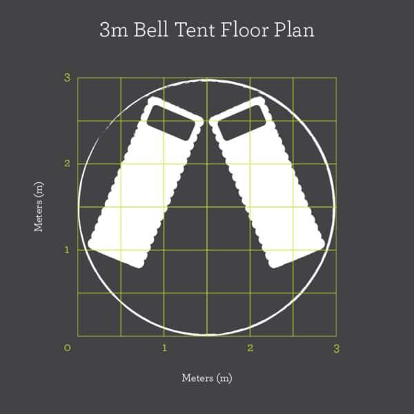 3m bell tent floor plan