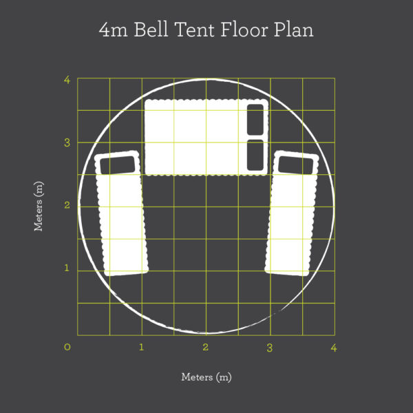 4m bell tent floor plan