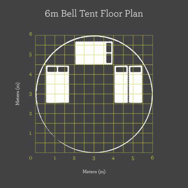 6m Bell Tent Floor Plan