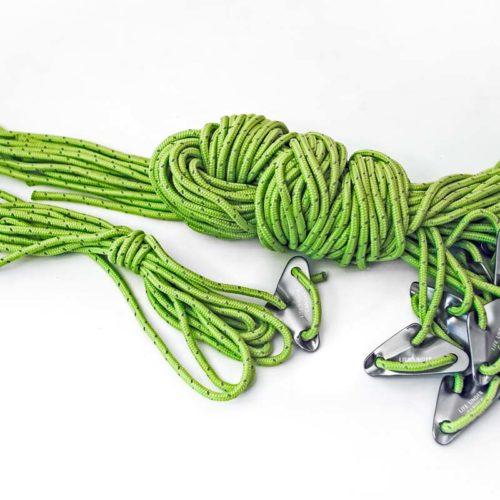 Full set of guy ropes