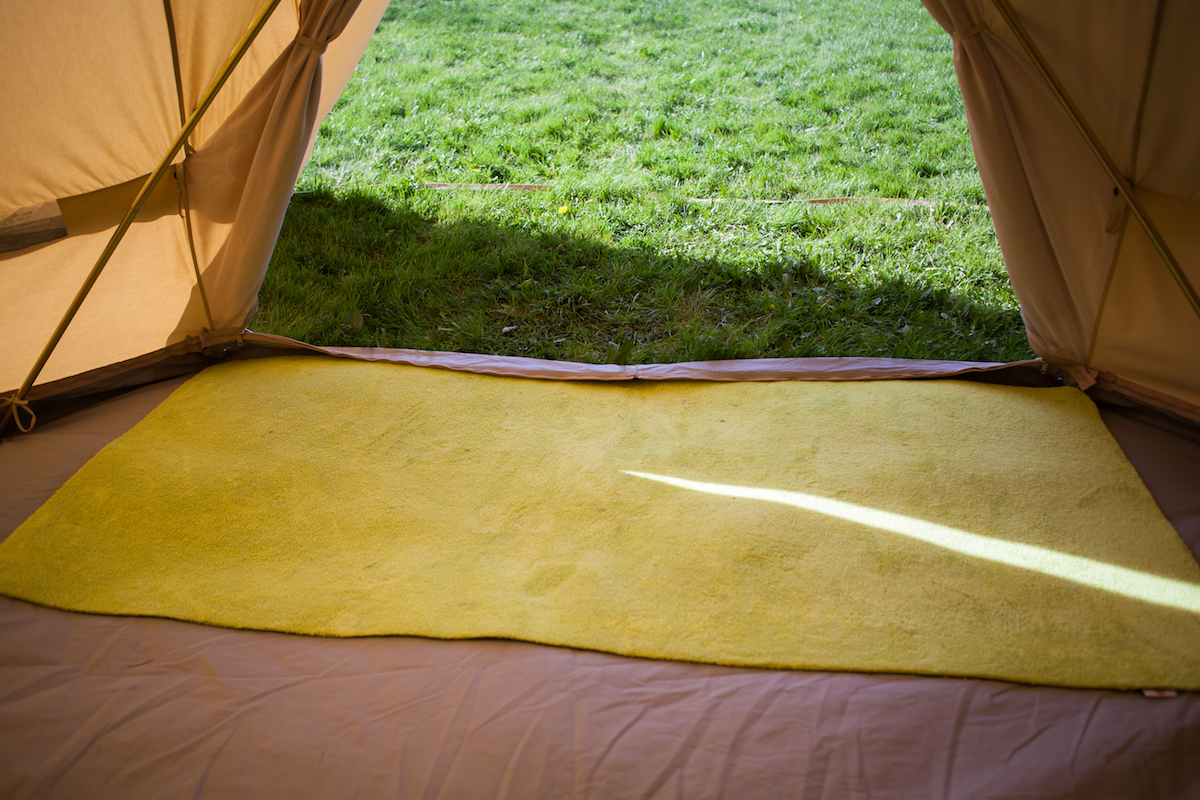 Absorbent Eco Door Mat Washable Non Slip Backing Bell Tent