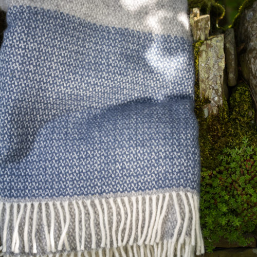 Denim and grey Illusion blanket