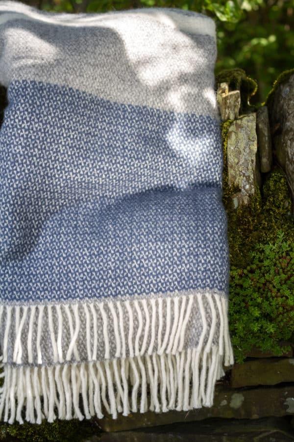 Denim and grey Illusion blanket