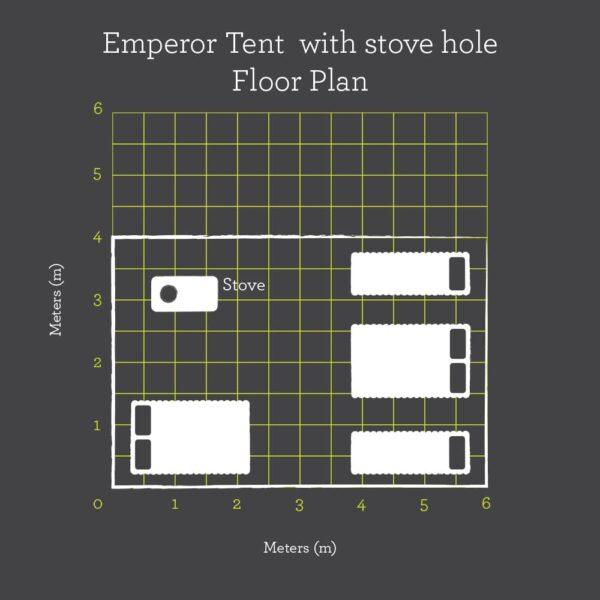 Emperor tent FRS floor plan