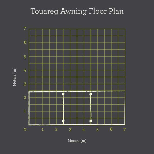 Touareg awning floor plan