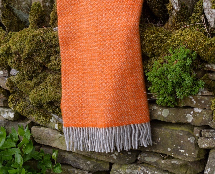 Pumpkin Orange Wool Blanket