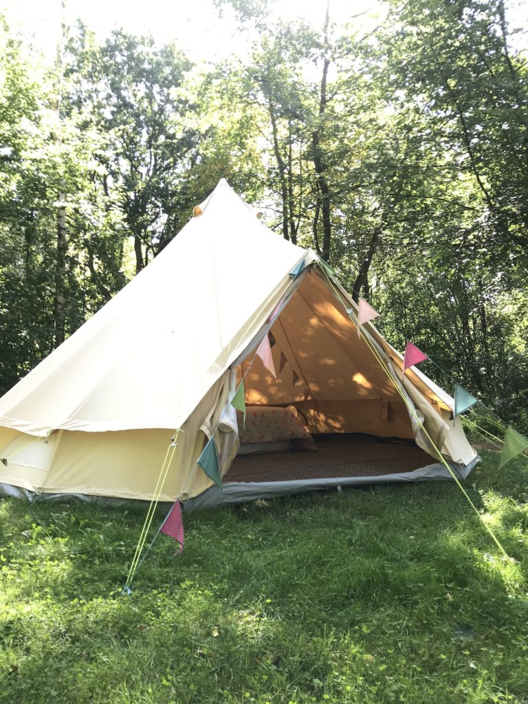 Pop up a bell tent at Glamping Wales