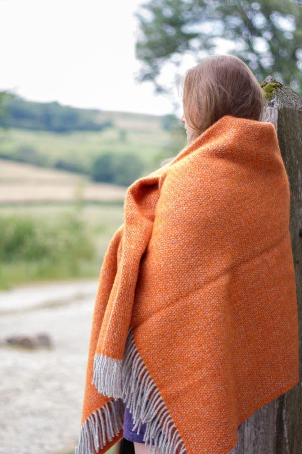 Pumpkin orange illusion blanket