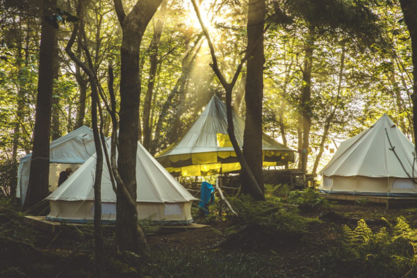 Wild Camp Experience Cornish Wave bell tents