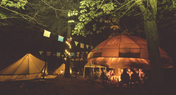 Life Under Canvas Bell Tents at Wild Camp Experience Cornish Wave