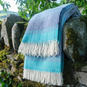 Seaside Blue Ombre Blanket