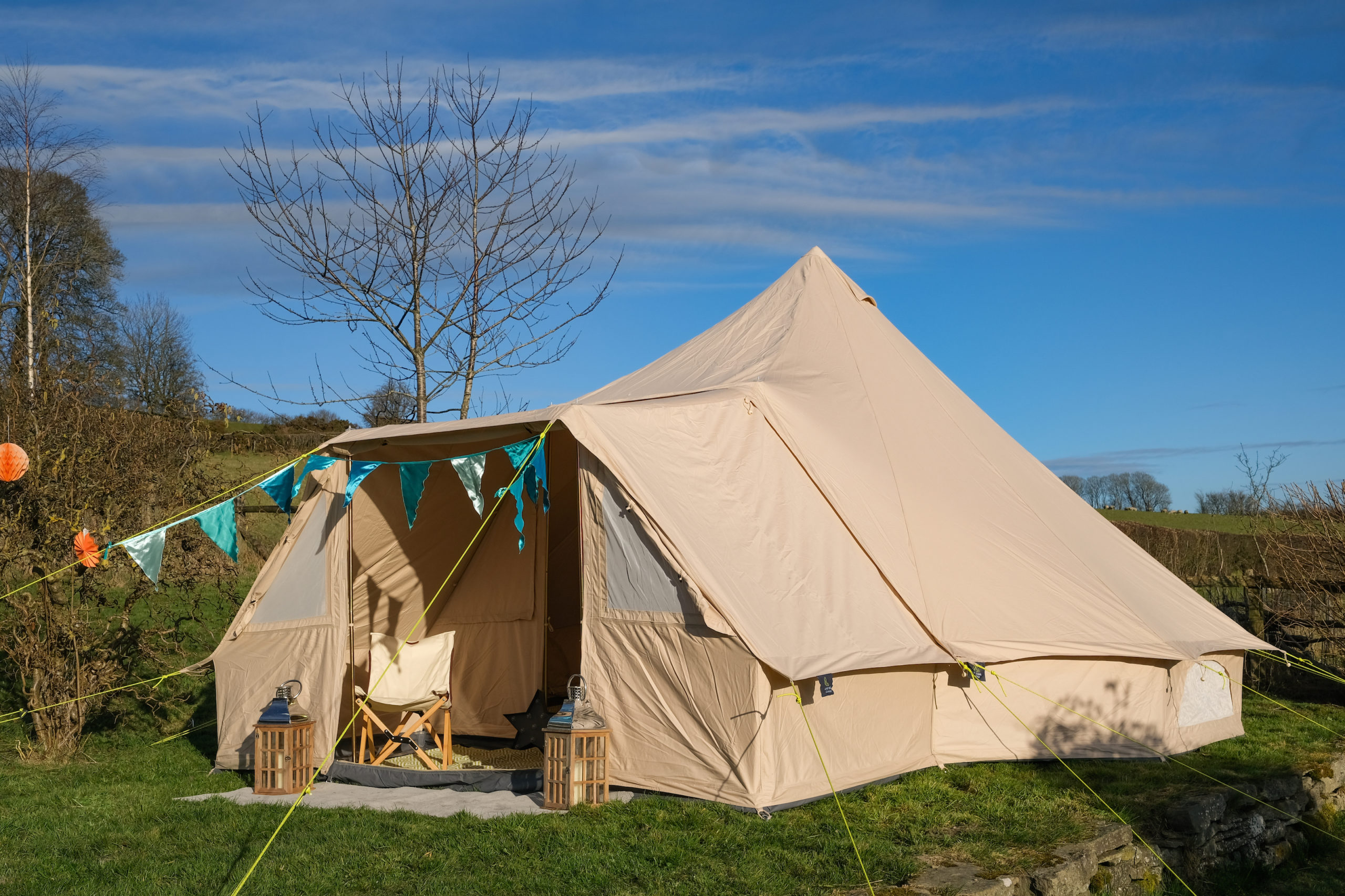 Life Under Canvas 5m Bell Tent With Porch £725